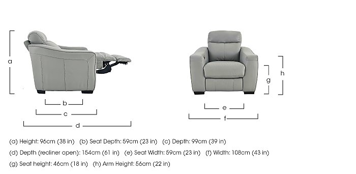 Cressida Manual Recliner Leather Armchair - Limited Stock
