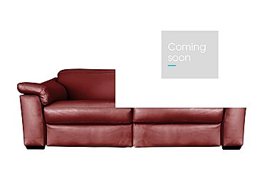 Sensor 2 Seater Leather Power Recliner Sofa - Only One Left! in Dream 20jd Red on FV