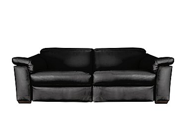 Sensor 2 Seater Leather Sofa - Only One Left! in Dream 20jf Black on FV