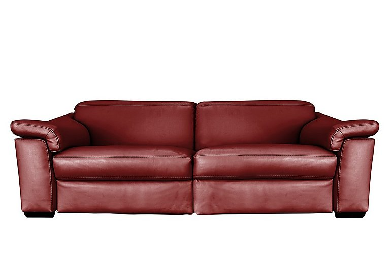 Sensor 3 Seater Leather Power Recliner Sofa - Only One Left!