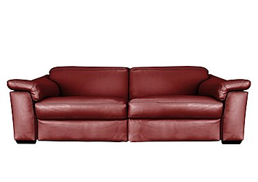 Sensor 3 Seater Leather Power Recliner Sofa - Only One Left! in Dream 20jd Red on FV
