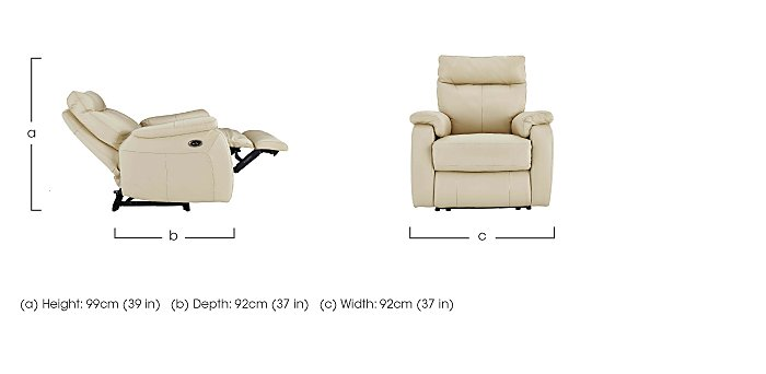 Jemima Fabric Power Recliner Armchair - Limited Stock