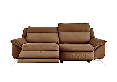 Napoli 2 Seater Leather Power Recliner - Only One Left! in Oregon 15wl Brandy on FV