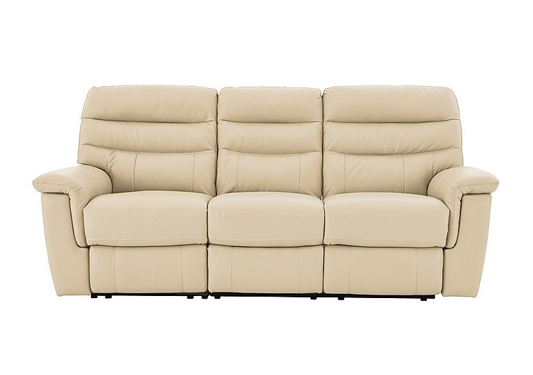 Relax Station Serenity 3 Seater Leather Sofa - Only One Left! in Bv 8123 Light Cream on FV