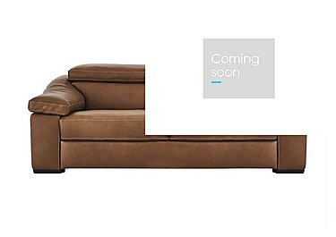 Sanremo 2 Seater Leather Sofa in Dc20jr Rawhide Camel Cs Hemp on FV