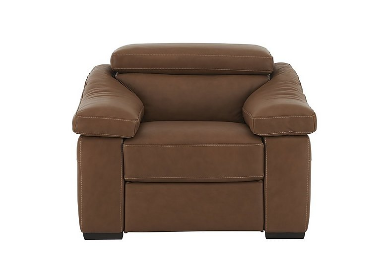 Sanremo Leather Recliner Armchair in Dc20jr Rawhide Camel Cs Hemp on FV
