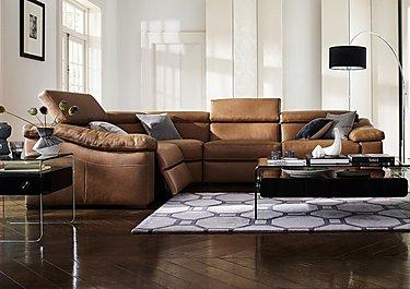Sanremo Leather Corner Recliner Sofa in  on FV
