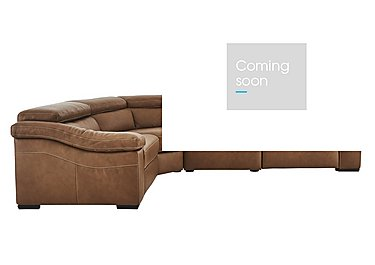Sanremo Leather Corner Recliner Sofa in Dc20jr Rawhide Camel Cs Hemp on FV