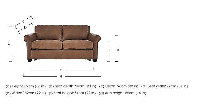 Campania 2 Seater Leather Sofa