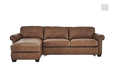 Campania Leather Corner Chaise Sofa Bed with Storage  in {$variationvalue}  on FV