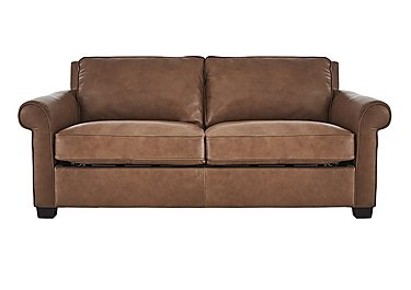 Campania 3 Seater Leather Sofa Bed in Bari 10yn Sambuco on FV