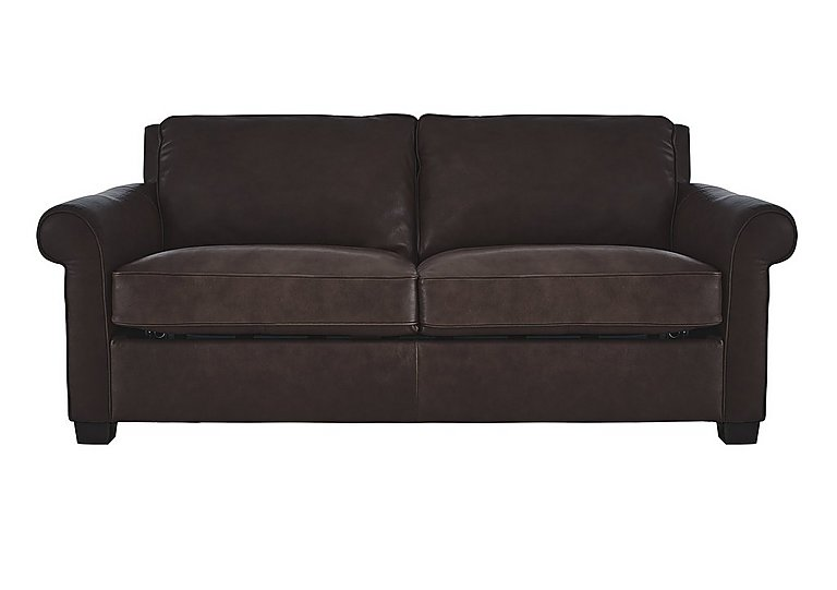 Campania 3 Seater Leather Sofa Bed