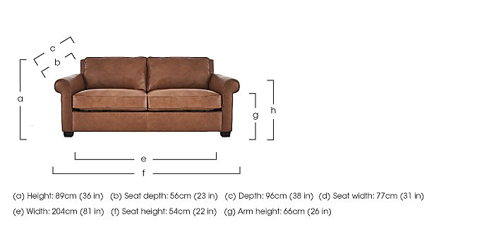 Campania 3 Seater Leather Sofa in  on FV