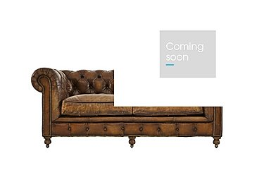 Kingston Mews 2 Seater Leather Sofa in Old England Coffee Wo on FV