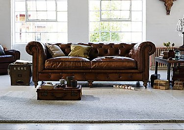 Kingston Mews 2.5 Seater Leather Sofa in  on FV