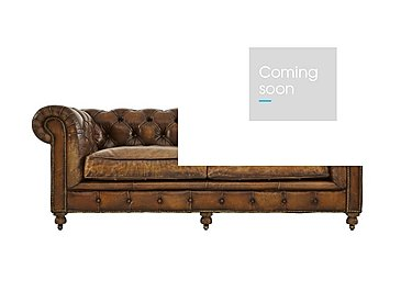 Kingston Mews 2.5 Seater Leather Sofa in Old England Coffee Wo on FV
