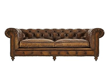 Kingston Mews 3 Seater Leather Sofa  in {$variationvalue}  on FV