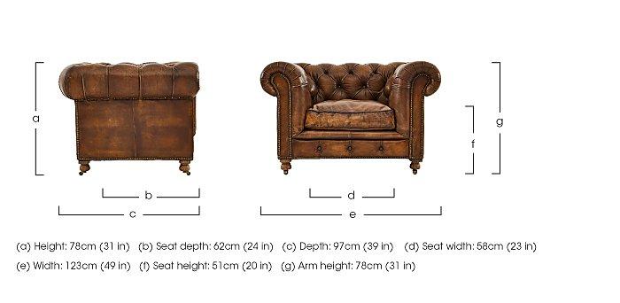 Kingston Mews Leather Armchair  in {$variationvalue}  on FV