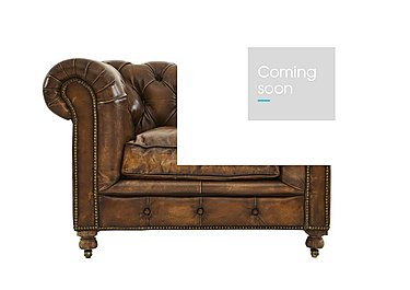 Kingston Mews Leather Armchair in Old England Coffee Wo on FV