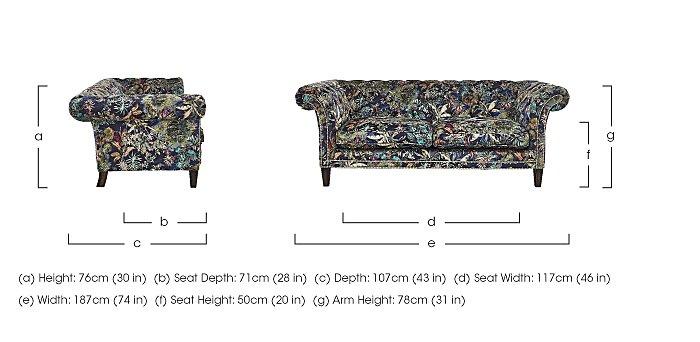 Aruba 2 Seater Fabric Sofa in  on FV