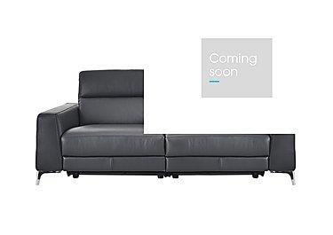 Livorno 2 Seater Leather Recliner Sofa in 20ji Antracite Cs Light Grey on FV