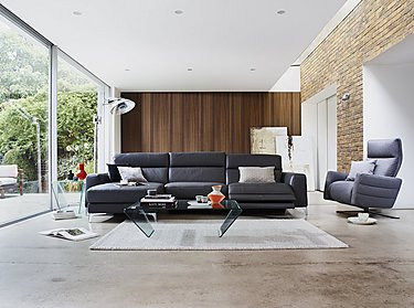 Livorno 2 Seater Leather Recliner Sofa in  on FV