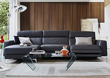Livorno Leather Recliner Corner Chaise in  on FV