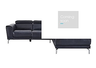 Calabria Leather Recliner Corner Chaise in Ischia 10wg Ocean Blue on FV