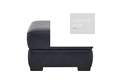 Calabria Leather Footstool in Ischia 10wg Ocean Blue on FV