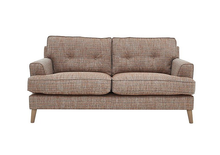 Line 2 Seater Fabric Sofa in Carlo Multi Lt Col 2 Light on FV