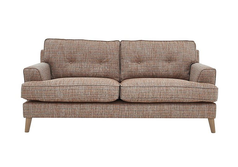 Line 2.5 Seater Fabric Sofa in Carlo Multi Lt Col 2 Light on FV