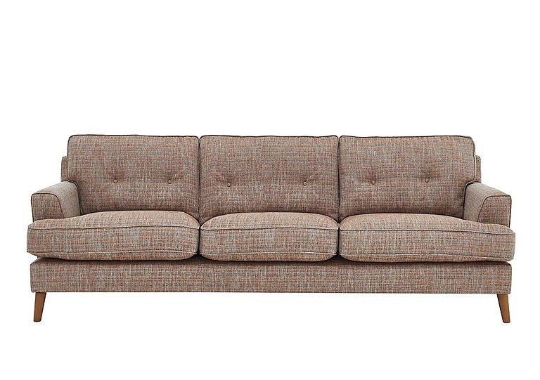 Line 3 Seater Fabric Sofa in Carlo Multi Col 7 Hoxton on FV