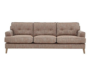 Line 3 Seater Fabric Sofa in Carlo Multi Lt Col 2 Light on FV