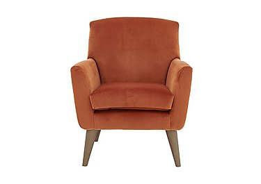 Line Fabric Accent Armchair in Capri Coral Col 7 Hoxton on FV