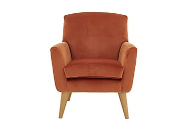 Line Fabric Accent Armchair