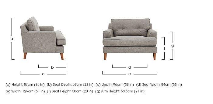 Line Fabric Snuggler Armchair  in {$variationvalue}  on FV