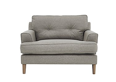 Line Fabric Snuggler Armchair in Suma Silver Col 7 Hoxton on FV