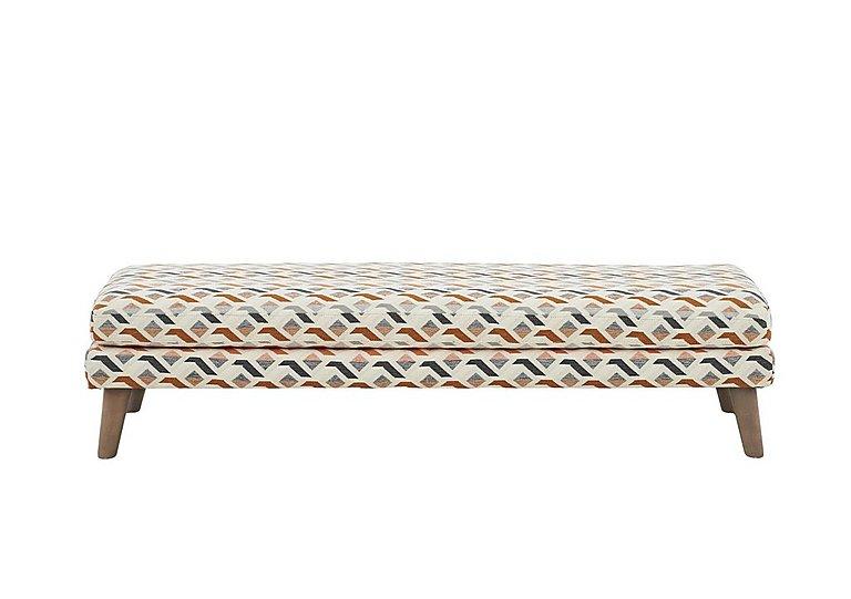 Line Fabric Footstool in Midori Orange Col 7 Hoxton on FV