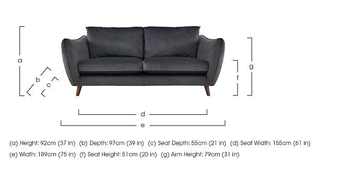 City Loft 3 Seater Fabric Sofa in  on FV