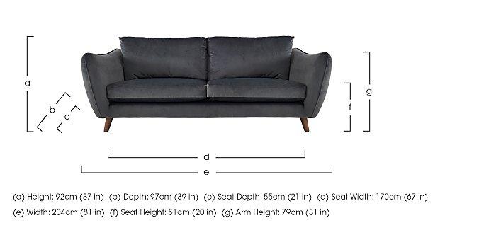 City Loft 4 Seater Fabric Sofa in  on FV