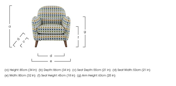City Loft Fabric Accent Armchair in  on FV