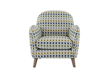 City Loft Fabric Accent Armchair in Star Aqua Hox Col 7 on FV