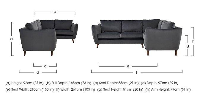 City Loft Fabric Corner Sofa  in {$variationvalue}  on FV