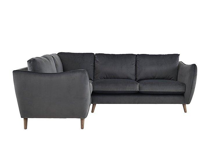 City Loft Fabric Corner Sofa in Capri Pewter Hox Col 7 on FV