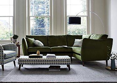 City Loft Fabric Corner Sofa in  on Furniture Village
