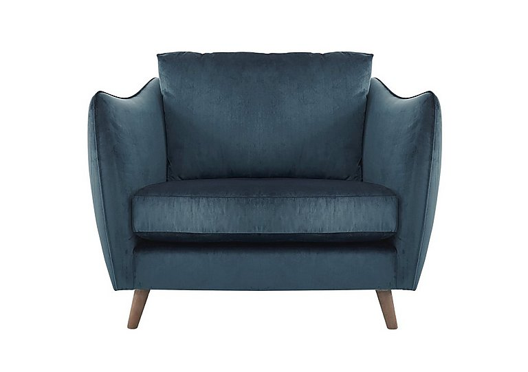 City Loft Fabric Snuggler Armchair in Capri Navy Hox Col 7 on Furniture Village