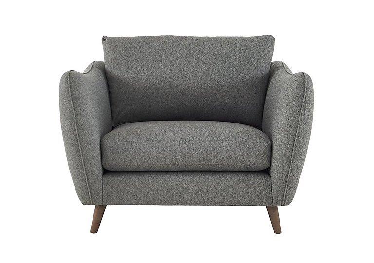 City Loft Fabric Snuggler Armchair in Suma Silver Hox Col 7 on FV