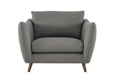 City Loft Fabric Snuggler Armchair in Suma Silver Hox Col 7 on FV