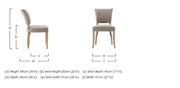 Barbican Pair of Moleskin Dining Chairs in  on FV