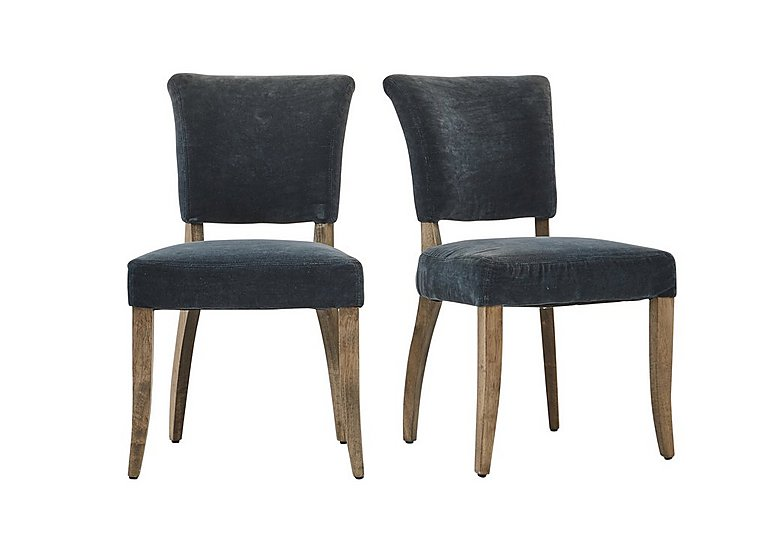 Barbican Pair of Moleskin Dining Chairs in Mimi Vintage Moleskin Duck on Furniture Village